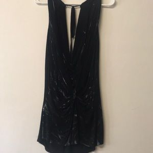 2 layer interesting black and silver tank